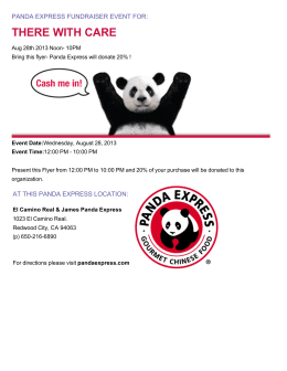 Panda Express Fundraising Event for There With Care