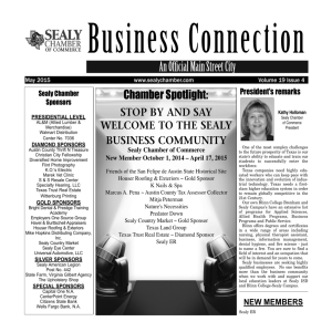 SCOC-Newsletter-May-2015 - Sealy Chamber of Commerce