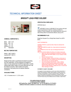 TECHNICAL INFORMATION SHEET