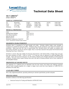 Technical Data Sheet - Sil-Fos