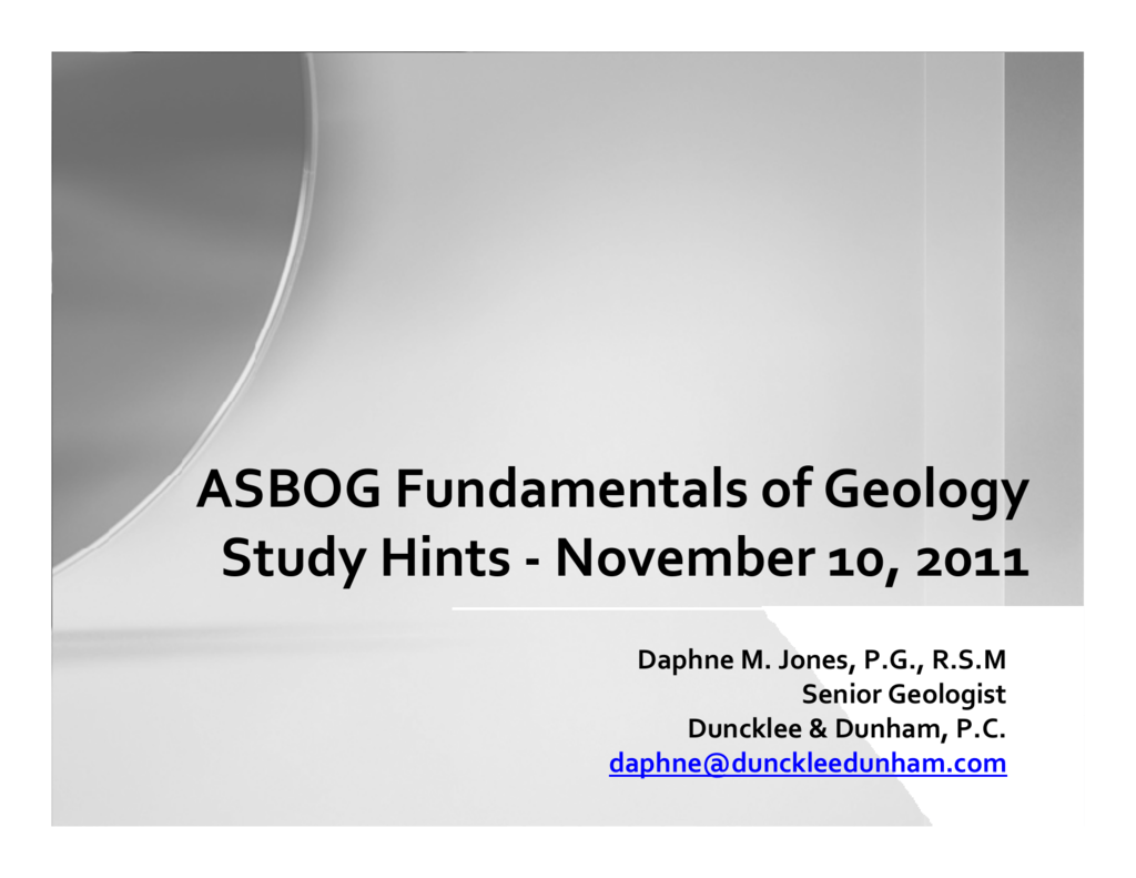geology study guide one Physical geology exam 4 study guide inclusion is a fragment of one rock type enclosed within another rock type relative dating: the included rock must be older than the surrounding rock.