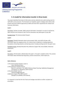 4. A model for information transfer in three levels
