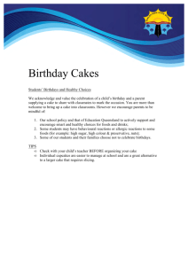 Birthday Cakes - Education Queensland