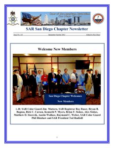 Fall 2012 Newsletter - Sons of the American Revolution