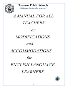 A MANUAL FOR ALL TEACHERS on MODIFICATIONS and