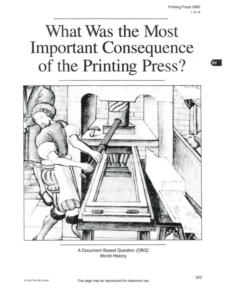 What Was the Most Important Consequence of the Printing Press?