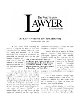 The Role of Vanity in Law Firm Marketing