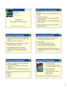 Chapter 1 The Nature of Chemistry Why Care about Chemistry