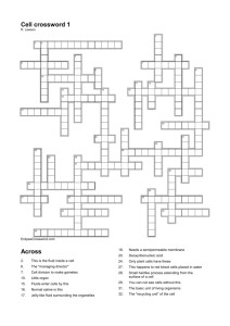 Cell crossword 1