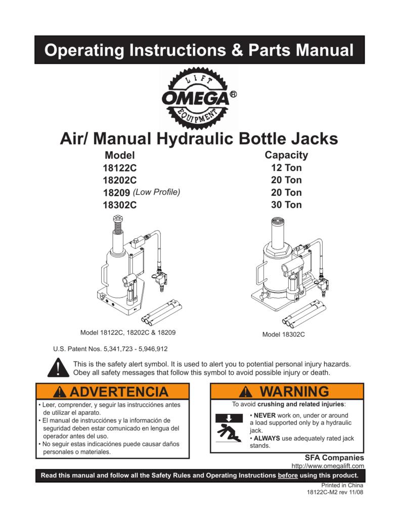 Craftsman Bottle Jack Parts Manual Guide