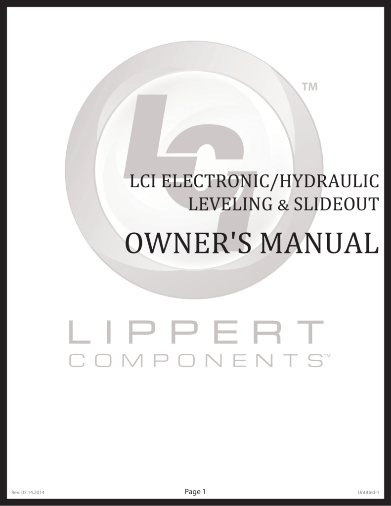 Electric/ Hydraulic Leveling