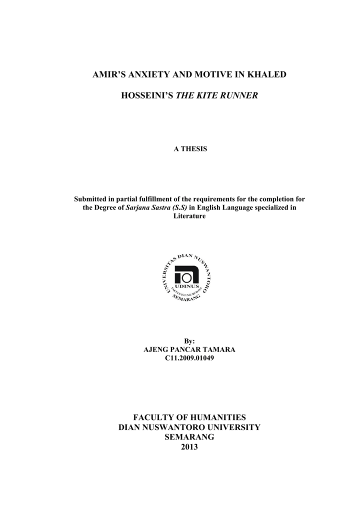thesis statement courage kite runner-1