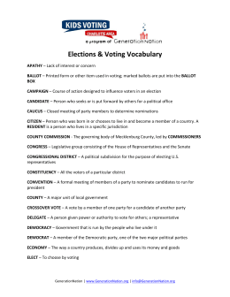 Elections & Voting Vocabulary