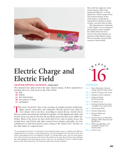 Ch 16) Electric Charge and Electric Field