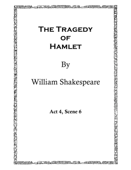 an analysis of the tragedy of hamlet by william shakespeare