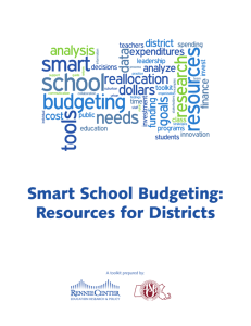 Smart School Budgeting: Resources for Districts