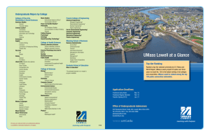 UMass Lowell at a Glance Spring 2013-14