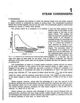 STEAM CONDENSERS - Elements of Heat Engines