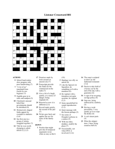 Listener Crossword 801