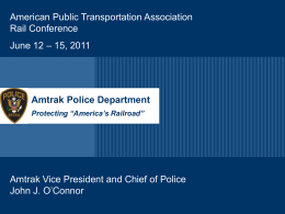 Amtrak Police Department American Public Transportation