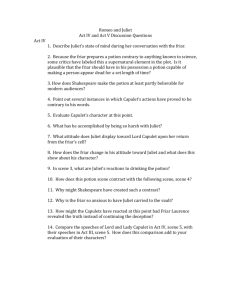 romeo and juliet act 4 essay questions