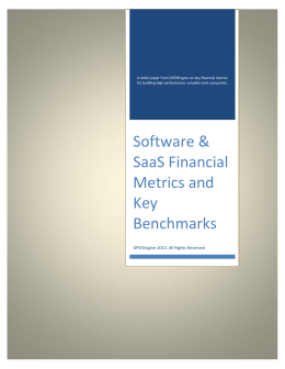 Software & SaaS Financial Metrics and Key Benchmarks