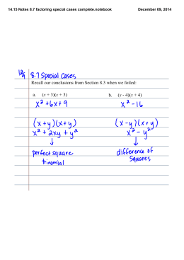 14.15 Notes 8.7 factoring special cases complete.notebook