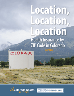 Health Insurance by ZIP Code in Colorado