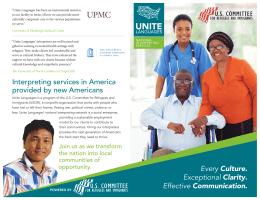Interpreting services for health care settings