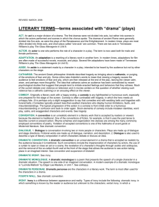 "LITERARY TERMS—terms associated with ""drama"""