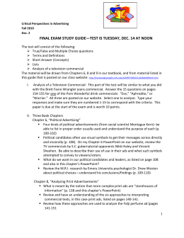 FINAL EXAM STUDY GUIDE—TEST IS TUESDAY, DEC. 14 AT NOON