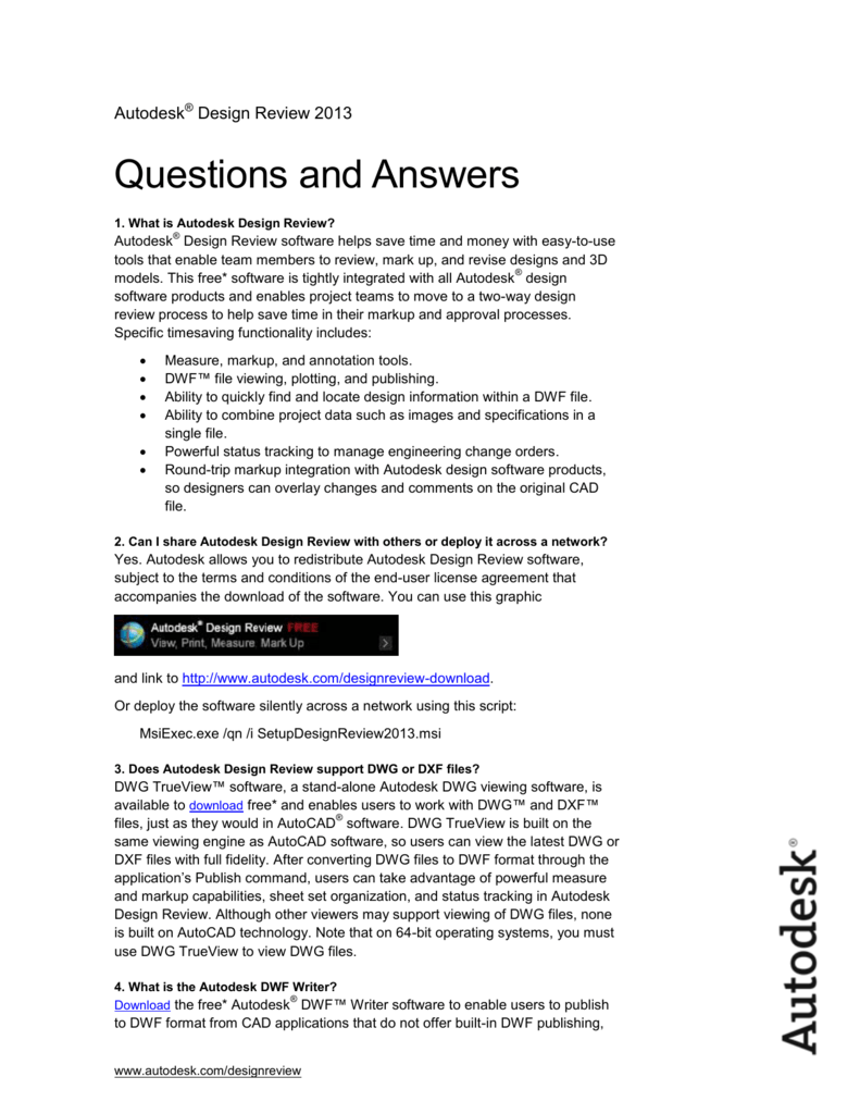 Autodesk Questions and Answers