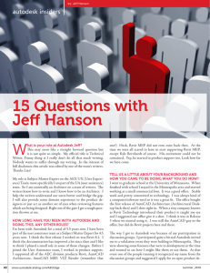 15 Questions with Jeff Hanson