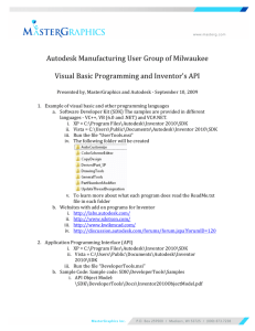 Autodesk Manufacturing User Group of Milwaukee Visual Basic