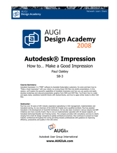 Autodesk® Impression - the Oakley CAD Services Web Site