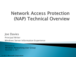NAPTechnicalOverview