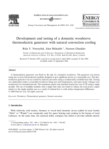 Development and testing of a domestic woodstove thermoelectric