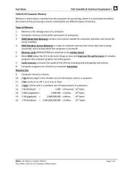 Fact Sheet TS21 Scientific & Technical Visualization I V103.01.02