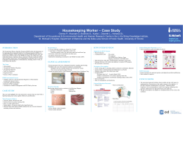 Case Study Housekeeping Worker – Case Study