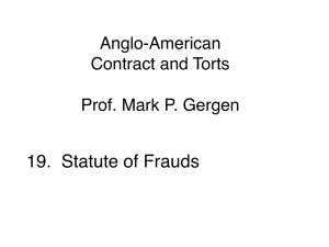 19. Statute of frauds (Session 8)