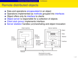 Remote distributed objects