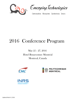Program  - Emerging Technologies 2016