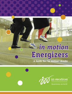 Energizers - Winnipeg in motion