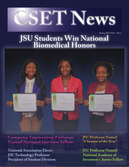 JSU Students Win National Biomedical Honors JSU Students Win