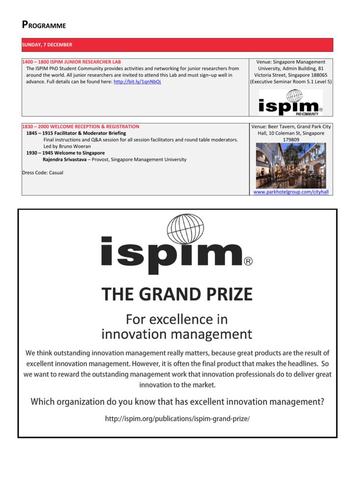 ispim-wiley innovation dissertation award