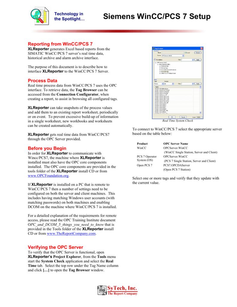 Siemens WinCC/PCS 7 Setup