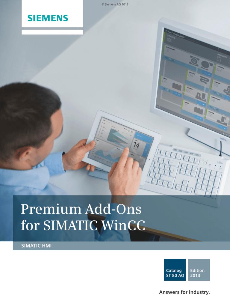 SIMATIC HMI - Premium Add-Ons for SIMATIC WinCC