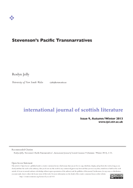 Stevenson's Pacific Transnarratives
