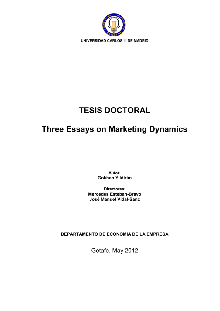 Three Essays On Marketing Dynamics  E  Writing Services In Atlanta also Proposal Argument Essay Examples  Book Report Help