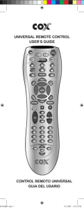 UNIVERSAL REMOTE CONTROL USER'S GUIDE CONTROL
